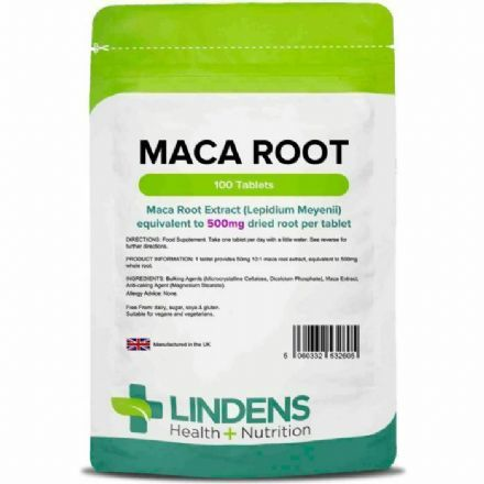 Maca Root 500mg x 100 Tablets; Lindens
